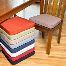 Kitchen Pretty Colorful Plain Design Chair Cushions With Light Brown On Seat