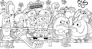 Coloring Pages Of Spongebob Characters Archives Throughout Squarepants