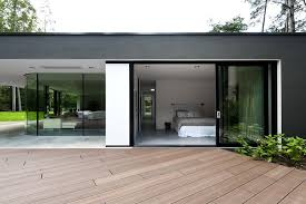 Bedroom Modern Open Plan House Design Showing Master Bedroom And