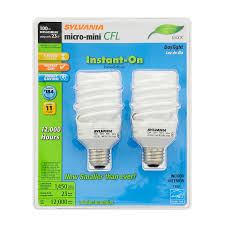 shop sylvania 2 pack 100 w equivalent daylight a19 cfl light