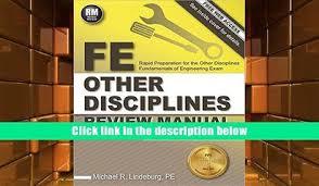 Audiobook FE Other Disciplines Review Manual Michael R Lindeburg PE Pre Order