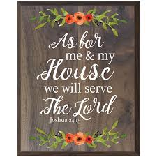 LifeSong Milestones As For Me And My House We Will Serve The Lord Wall Decor Gift For Husband Wife Wedding Annivesary Housewarming Gift Ideas 12