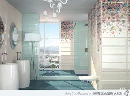 15 lovely bathrooms with decorative wall tiles decorative wall