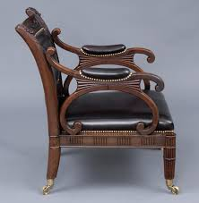 Antique Library Chairs   English Regency Mahogany & Leather Armchair Mid 17th Century Inlaid Oak Armchair C 1640 To 1650 England Comfy Edwardian Upholstered Antique Antiques World Product Scottish Bobbin Chair French Leather Puckhaber Decorative Soldantique Brown Leather Chesterfield Armchair George Iii Chippendale Period Fine Regency Simulated Rosewood And Brass 1930s Heals Of Ldon Atlas Armchairs English Mahogany Library Caned 233 Best Images On Pinterest Antiques Arm Fniture An Arts Crafts Recling