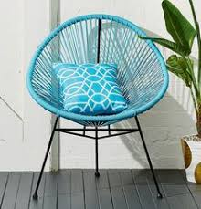Kmart Lounge Chair Cushions by 39 Kmart Blue Acapulco Style Chair Material U2013 Metal Plastic