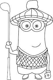 Full Size Of Coloring Pagegolf Pages Minion Waiting Page At Large Thumbnail