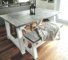 Rustic Kitchen Tables Table With Bench Dining Room Sets Round Set