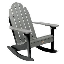 ELK OUTDOORS Essential Flint Recycled Plastic Outdoor Adirondack Rocking  Chair