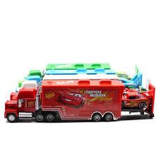 ჱDisney Pixar Cars 2 Toys 2pcs Lightning McQueen Mack Truck The ...