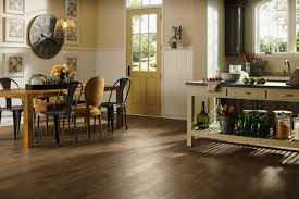 Hardwood Flooring Pros And Cons Kitchen by Marvelous Modern Kitchen Design With Brown Textural Wooden