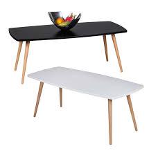 finebuy design couchtisch skandi 110 x 50 x 42 cm form rechteckig skandinavischer retro look matt lackierter wohnzimmertisch mit holz gestell
