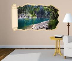 3d wandtattoo tapete fluss wasser wald baum landschaft bäume ast durchbruch selbstklebend wandbild wandsticker wohnzimmer wand aufkleber 11o1532