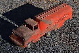 PATINA RUSTED BUDDY L Rat Rod Semi Truck Texaco Gas Fuel Tanker ...