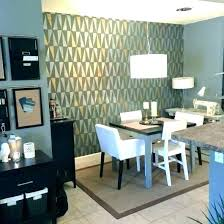 Stone Accent Wall Dining Room In Wallpaper