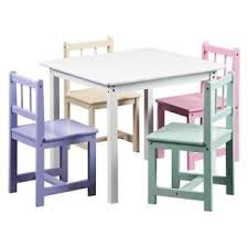 Crayola Wooden Table And Chair Set by Kids Table And Chairs Ebay
