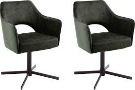 mca furniture esszimmerstuhl valetta 2er set stoffbezug vintage veloursoptik 360 drehbar mit nivellierung taschenfederkern stuhl belastbar bis