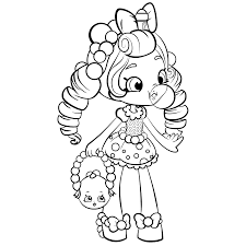 Shopkins Dolls Coloring Page Shoppies Doll For Girls