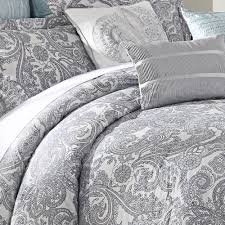 Tahari Home Bedding by Luxe Lavender 9 Piece Comforter Set White Duvet Covers White