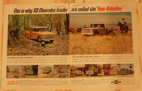 100 Vintage Truck Magazine 1963 CHEVY TRUCK 2 PAGECAMPBELLS 10x13Antique Original