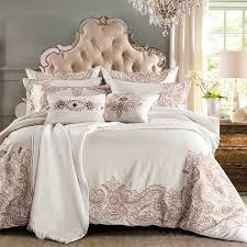 IvaRose 4 7pcs Europe Luxury bedding sets embroidery tencel fabric