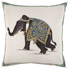 Pottery Barn Throw Pillow Inserts by John Robshaw Indian Elephant Decorative Pillow Indian Elephant