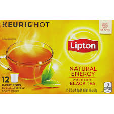 Lipton Keurig Hot Natural Energy Premium Black Tea K Cup Pods