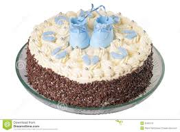 kuchen für ein baby stockbild bild torte junge 35360131