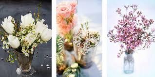 Wedding Flowers On A Budget DIY WAX Flower Arrangements