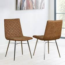 Brown Faux Leather Quilted Back Dining Chair, 2 Pack | Costco UK Cream Faux Leather Ding Chair With Curved Leg Crossley Single Adela Maple And Lpd Padstow Chairs Pair Brown Or Red Faux Leather Ding Chairs Antique Vintage Button Stud Detail Pack Of 2 Table Seat Set Bolero Tan Mark Harris California Simpli Home Cosmopolitan 9piece 8