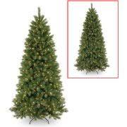 Slim Pre Lit Christmas Trees 7ft by National Tree Pre Lit 7 5 U0027 Glittery Bristle Pine Slim Hinged