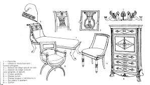 siege de style histoire du meuble style restauration de 1830 à 1848