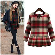 Dress Autumn Fall Cute Plaid Outfits Winter