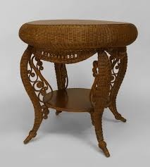 Heywood Wakefield Dressing Table by Small 19th C American Heywood Wakefield Oak And Wicker Table For