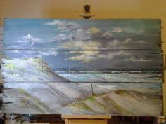 Original Ocean Seascape Painting On Reclaimed By Loriluvscolors 15995