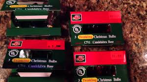 Blinking Christmas Tree Lights by Vintage Twinkling Blinking Christmas Lights C7 C9 Youtube
