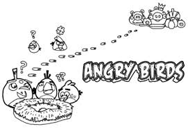 Angry Bird Pigs Stole Eggs Coloring Pages