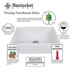 nantucket sinks cape 30 25 x 18 farmhouse apron kitchen sink