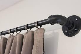 Telescoping Curtain Rod Set by Black Curtain Rod Best Curtain 2017
