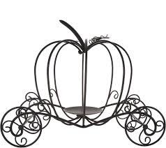 As Is Metal Pumpkin Carriage By Valerie