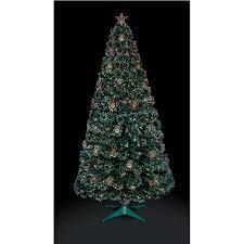 Small Fibre Optic Christmas Trees Uk by Premier Fibre Optic Christmas Tree With Pine Cones And Berries