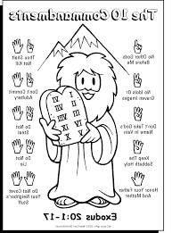 Ten Commandments Coloring Picture Hd