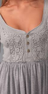 Magic Carpet Ride Tabs by Free People Magic Carpet Ride Henley Tunic In Gray Lyst