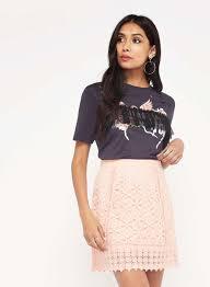 coral lace a line skirt miss selfridge