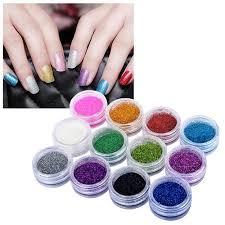 uv gel l walmart zodaca 12 colors nail glitter sparkling powder dust for uv gel