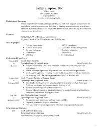 Emergency Room Nurse Resume Sample Nursing Operating Registered Healthcare Marvelous Examples