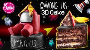 among us 3d motivtorte fondant cake sallys welt