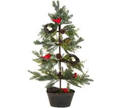Pre Lit Pencil Christmas Trees by Christmas Trees U2014 Qvc Com