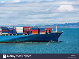 100 Shipping Containers San Francisco Colorful Freight On Ship In Francisco Bay Stock Photo