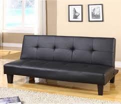 inroom designs klik klak convertible sofa bed black vinyl