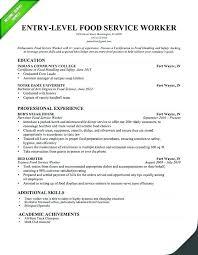 Sample Resume For Server Waitress Restaurant Waiter Free Socialumco